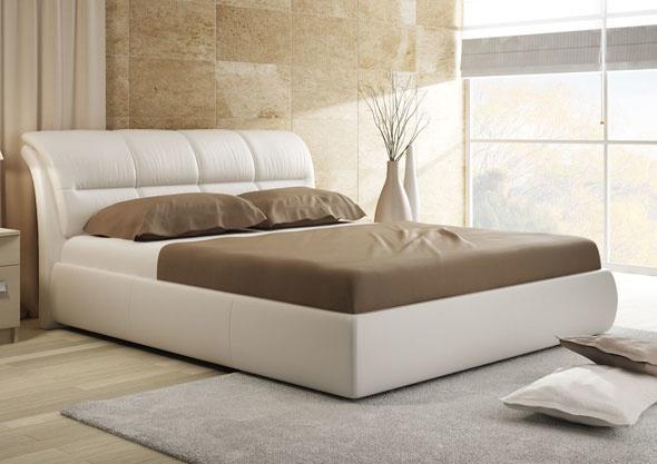 Интерьерные кровати — разнообразие форм и цветов